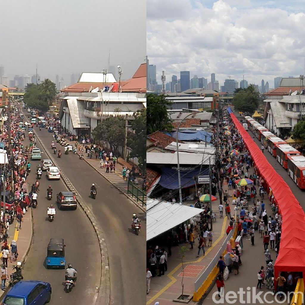Foto: Before After, PKL Tanah Abang