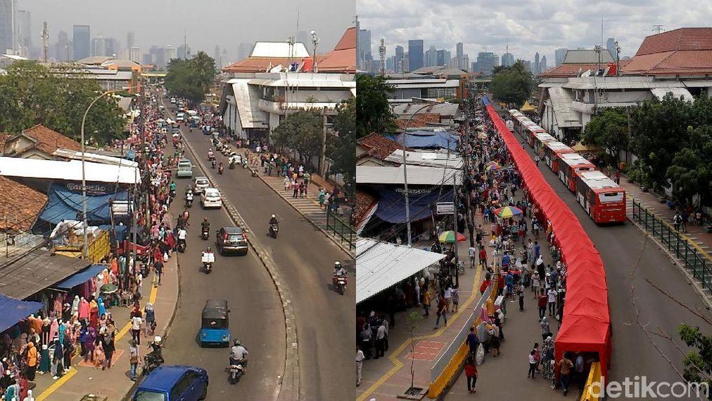 Foto: Before After, PKL Tanah Abang