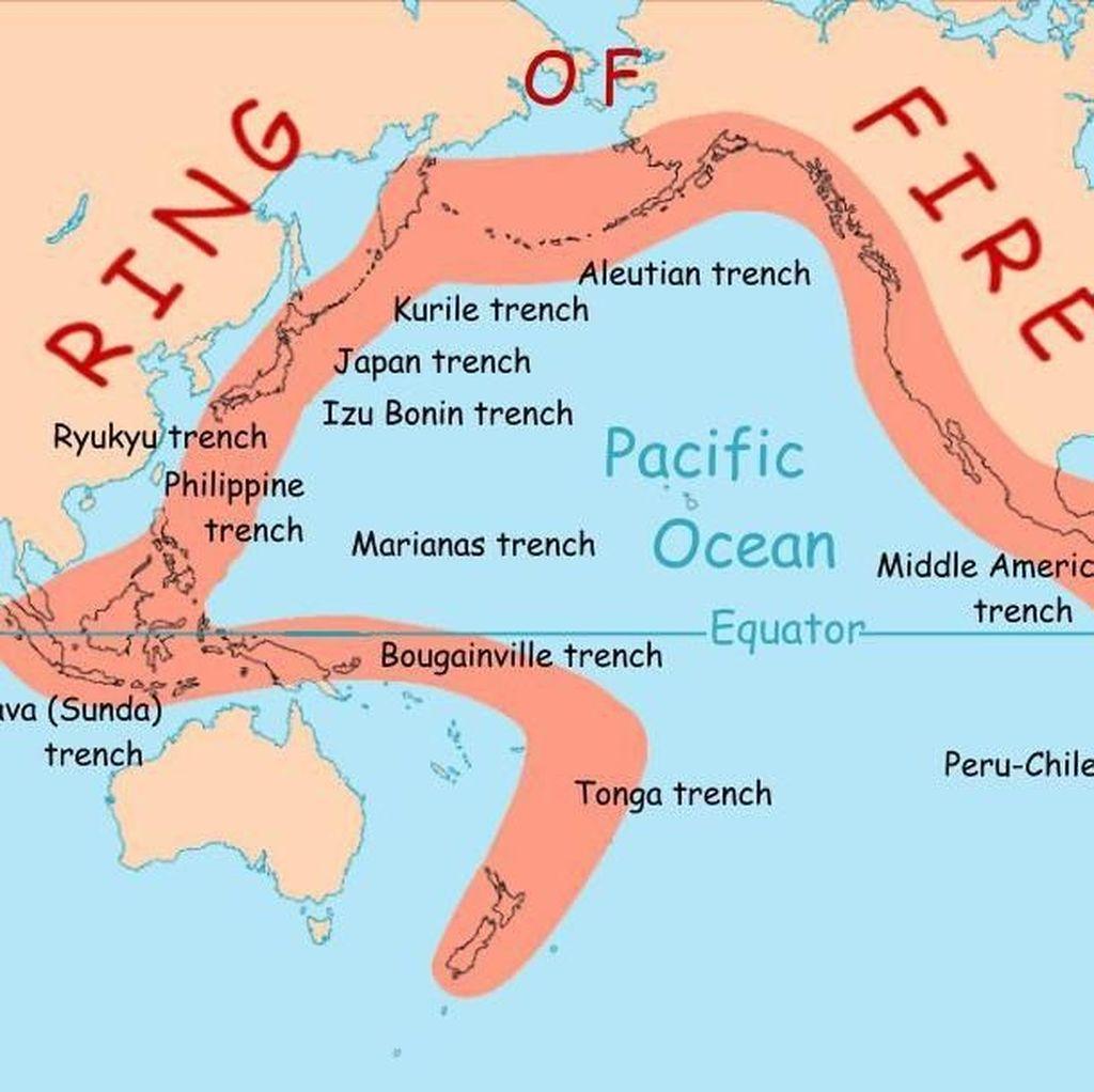 Foto: Hal-hal yang Perlu Diketahui Soal Cincin Api Pasifik