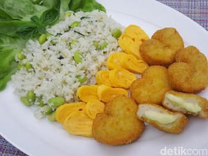 Resep Nasi : Buttered Rice with Fiesta Cheese Lover