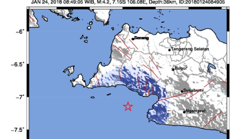 Lebak Banten Kembali Diguncang Gempa, Kekuatan 4,2 SR