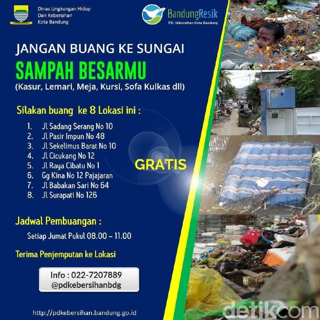 Cegah Buang Kasur ke Sungai, Pemkot Bandung Jemput Sampah Gratis