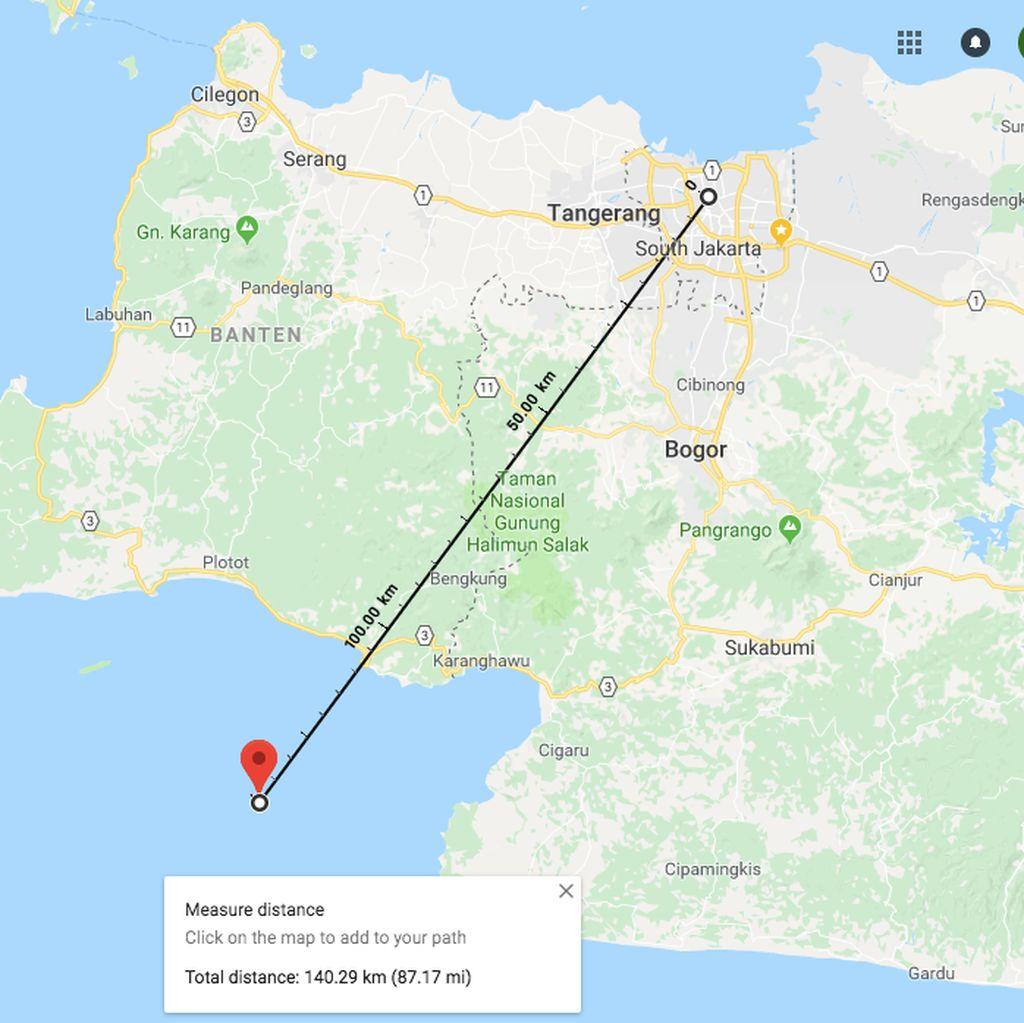 Berjarak 140 Km dari Jakarta, Ini Lokasi Episentrum Gempa Hari Ini