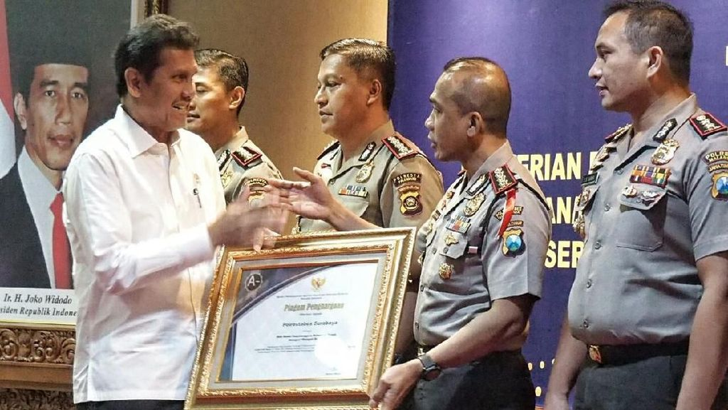 Terapkan Program Ini, Polrestabes Surabaya Raih Penghargaan KemenpanRB