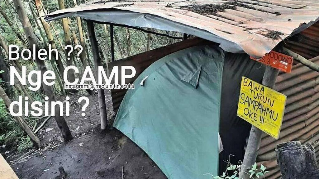 Kata Traveler Soal Tenda di Dalam Pos Pendakian