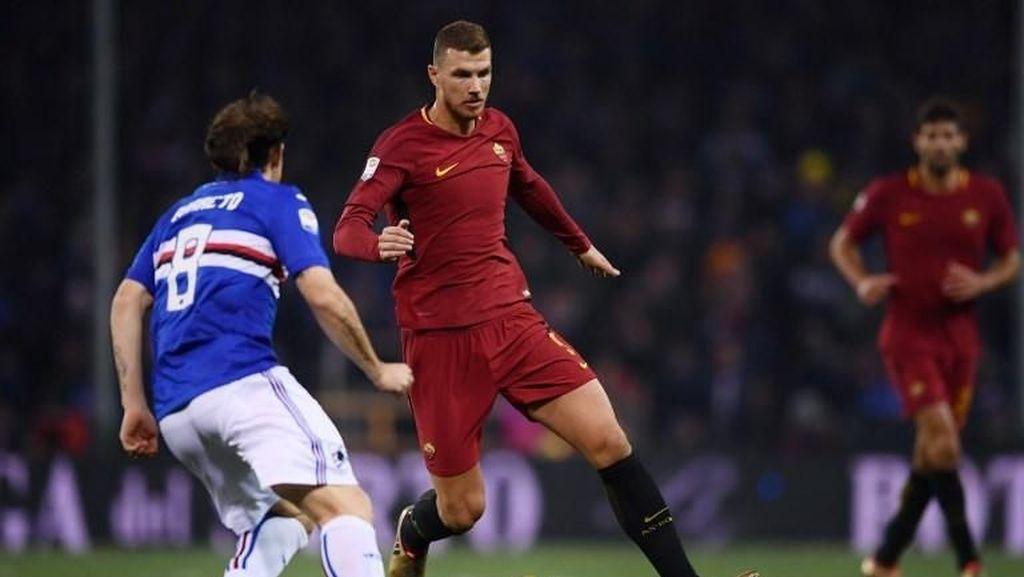 Gol Dzeko di Injury Time Selamatkan Roma dari Kekalahan