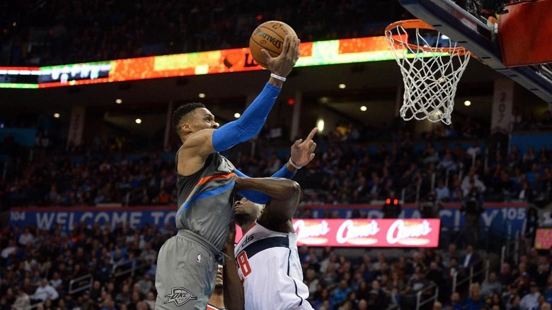 Westbrook Brilian, Thunder Kalahkan Wizards
