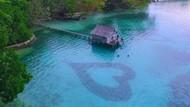 Ada di Indonesia, Pantai Ini Punya Bentuk Hati di Dalam Laut