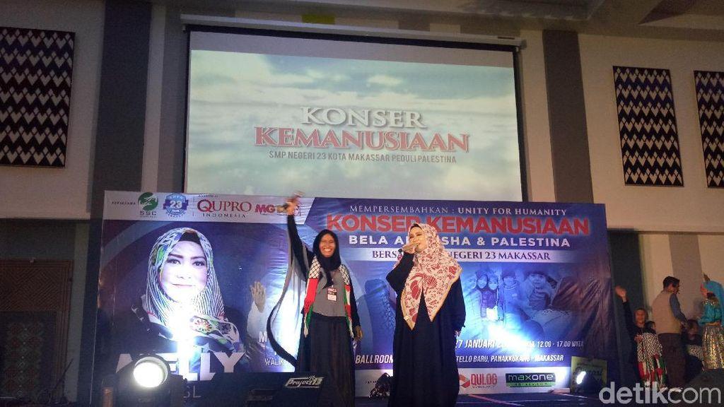 Melly Goeslaw Gelar Konser Kemanusian, Terkumpul Rp 358 Juta untuk Palestina