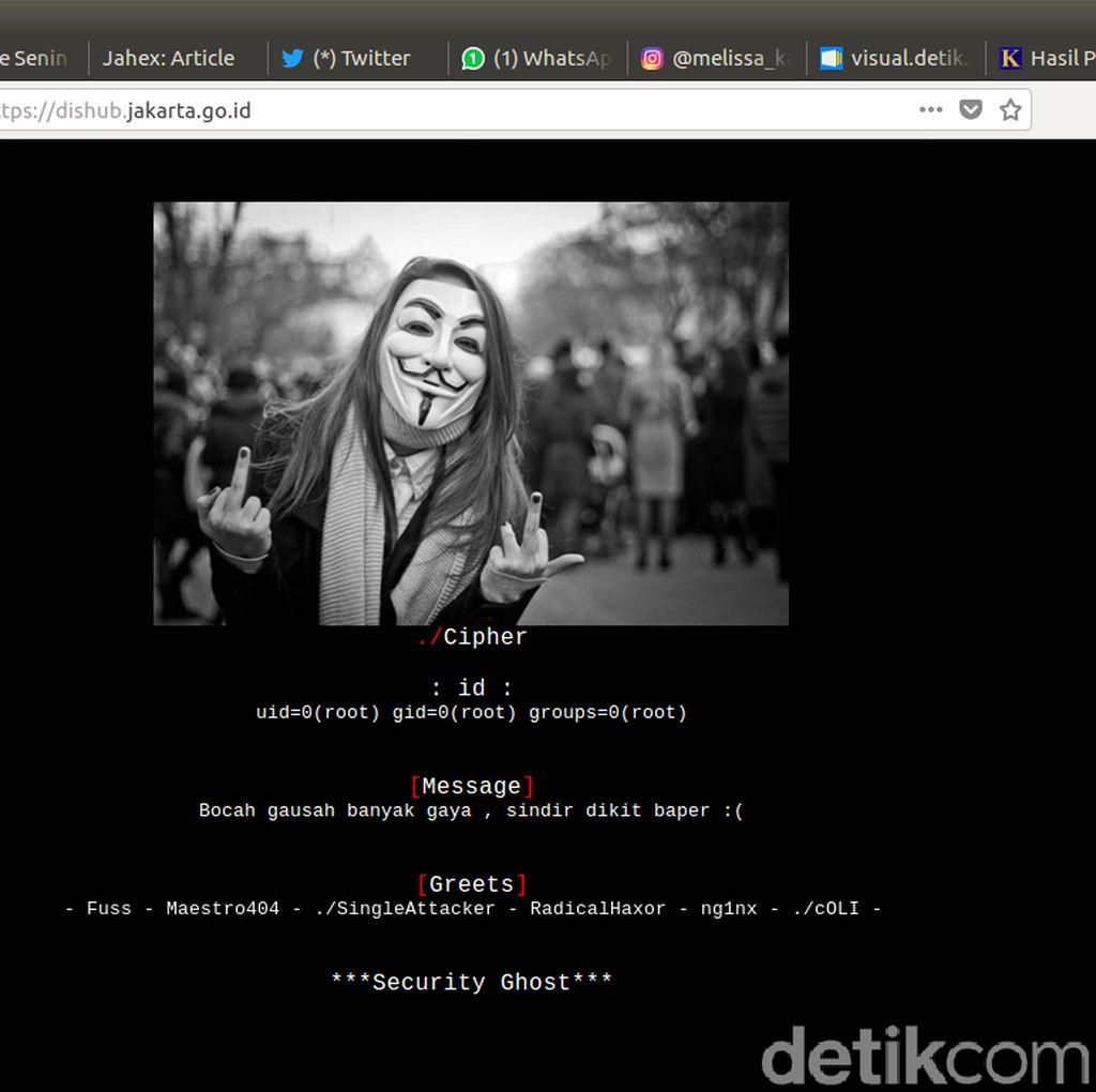 Situs Diacak-acak Hacker, Ini Kata Kadishub DKI