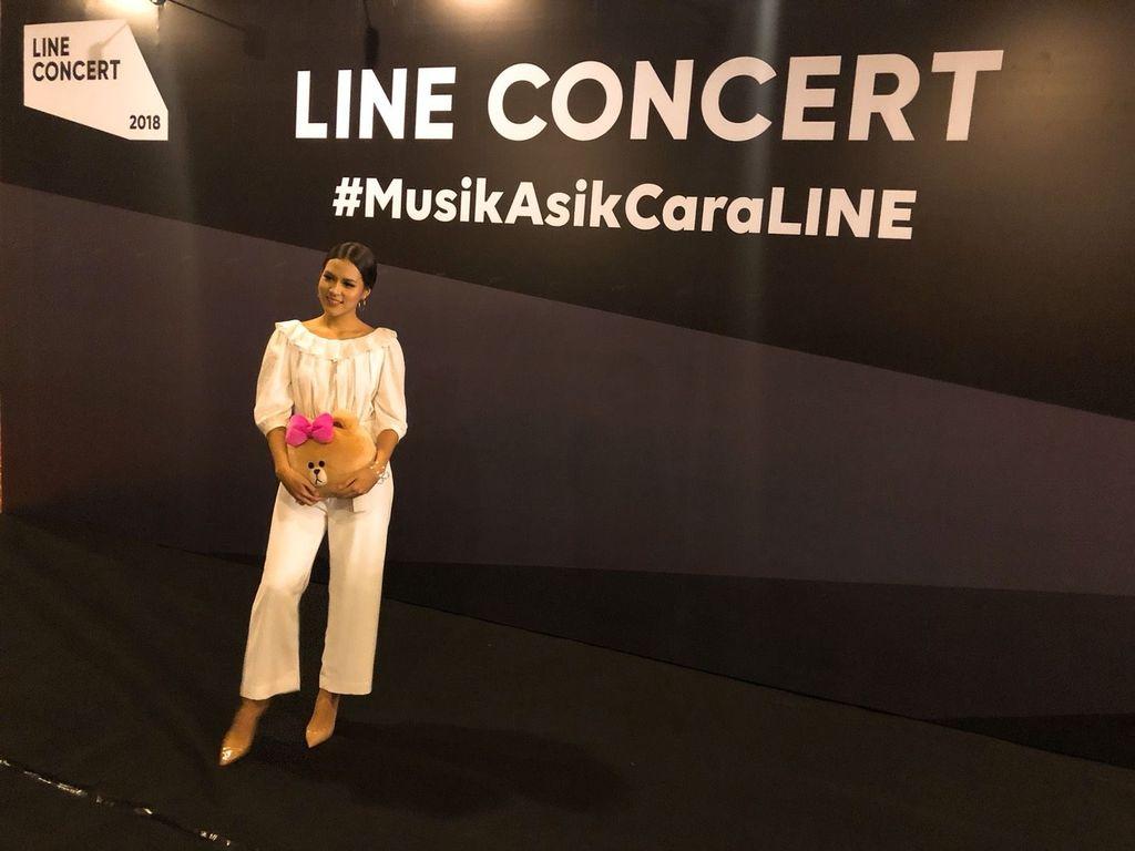 Raisa dalam media briefing LINE Concert Medan 2018. Foto: dok. Line