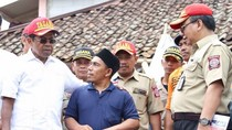Tinjau Korban Gempa di Bogor, Mensos Idrus Sampaikan Pesan Jokowi