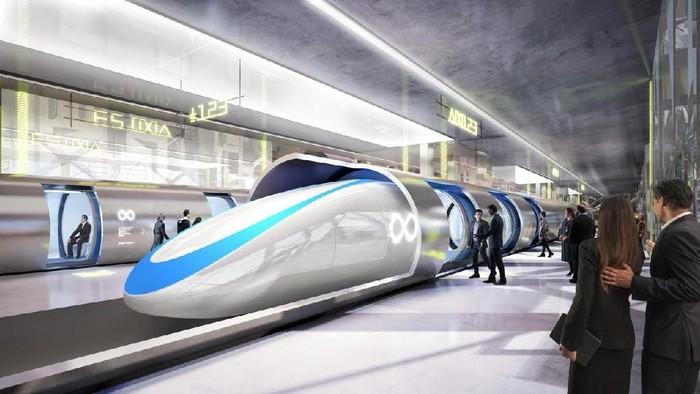 Ilustrasi Hyperloop. Foto: Ist/Internet