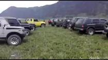 Viral, Pencinta Lingkungan Usir Puluhan Jeep di Padang Savana Bromo