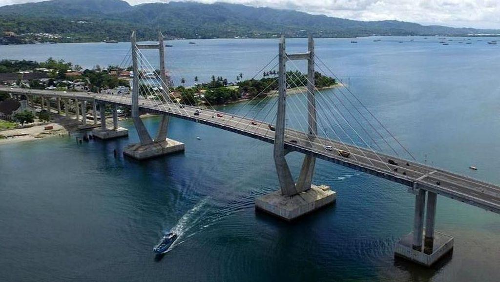 Jembatan Terpanjang di Timur RI Ini Dilengkapi Sensor Pengaman