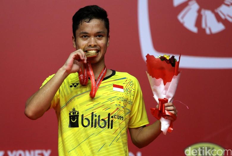 Foto: Anthony Ginting Juara Indonesia Masters 2018