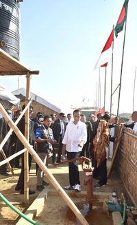 Jokowi kunjungi Kamp Pengungsi Rakhine di Cox's Bazar