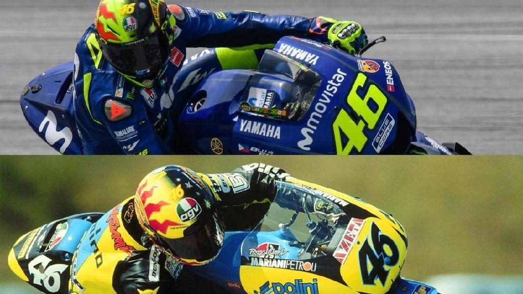 Tes di Sepang, Rossi Pakai Helm Kejayaan 20 Tahun Lalu