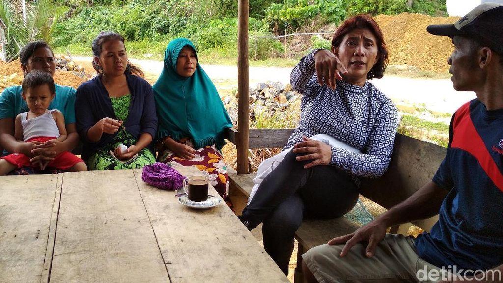 Foto: Susi Dipalak Kacamata Renang Oleh Nelayan