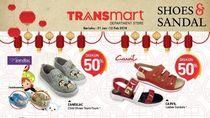 Serbu Sepatu dan Sandal dengan Diskon Spesial hingga 50% di Transmart!