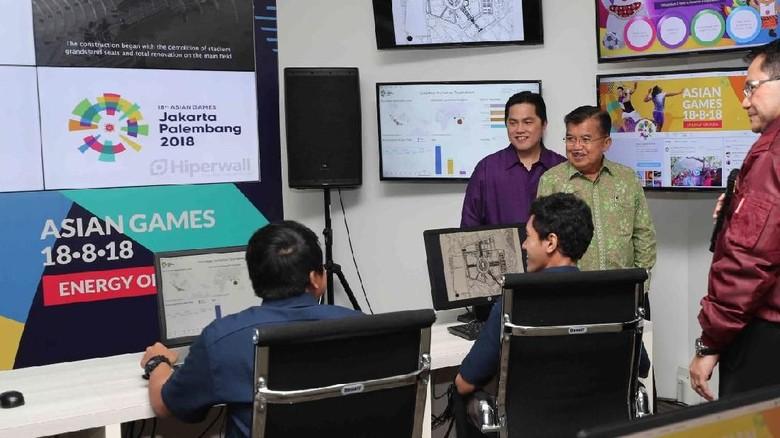 JK Resmikan MOC alias Ruang Kendali dan Monitor Asian Games 2018