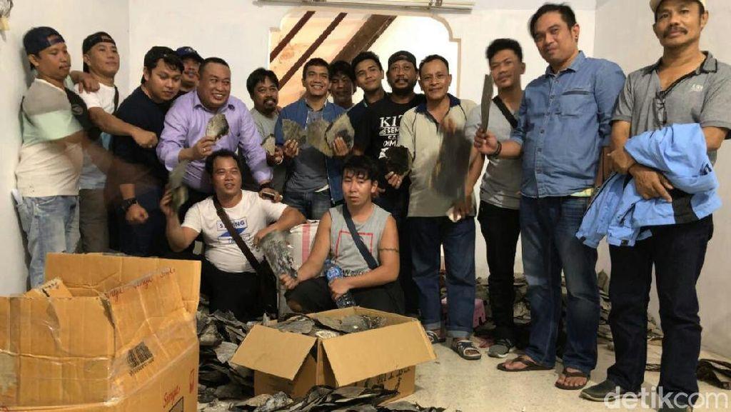 Simpan 200 Kg Sisik Penyu Ilegal, 2 WN China Ditangkap di Makassar