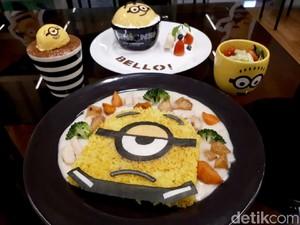 Minions Cafe: Ada Nasi Cream Stew dan Puding Serba Minion yang Menggemaskan