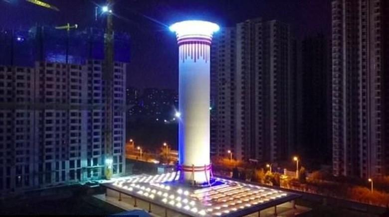Foto: Pembersih udara terbesar di dunia akan dibangun di China (huanqiu.com)
