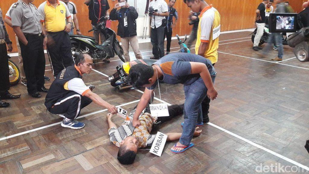 Polisi Gelar Reka Ulang Pengeroyokan Pelajar Hingga Tewas di Wonosobo
