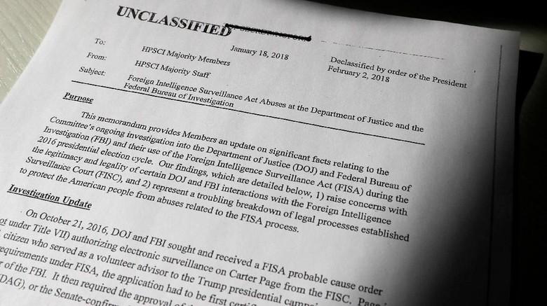 Memo Rahasia Sudutkan FBI Diungkap Trump, Apa Isinya?