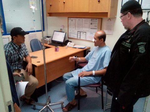 Korban Teguh Gunawan (54) mengalami luka di bagian hidung