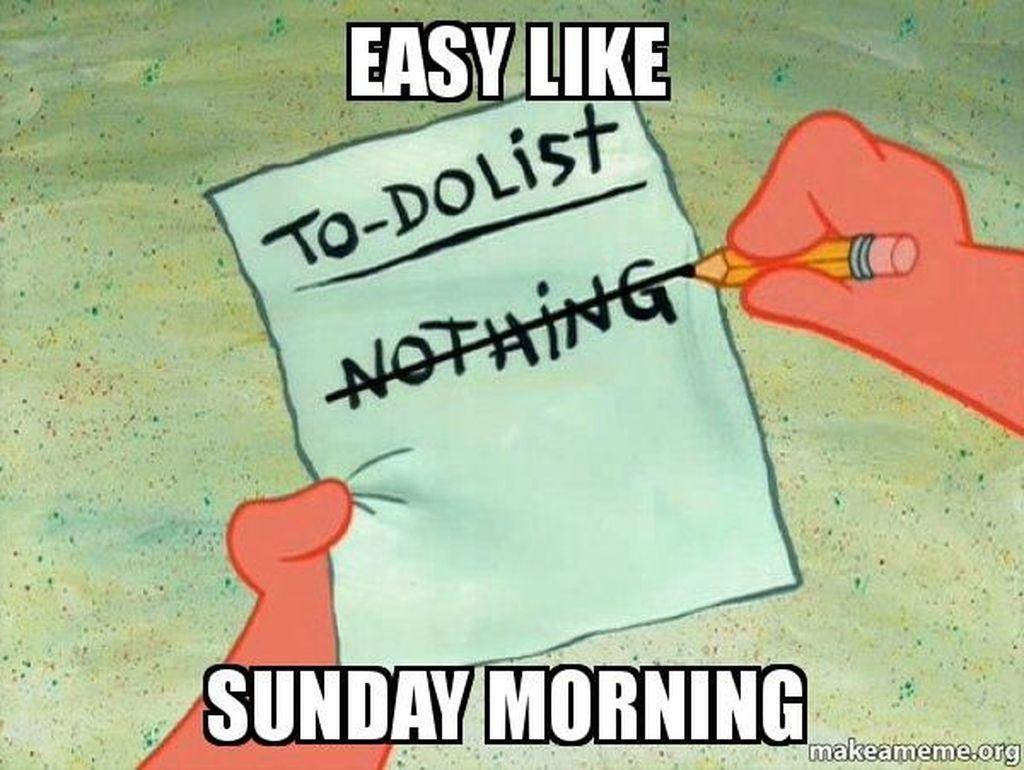 Contoh menulis agenda di hari Minggu. Foto: Internet