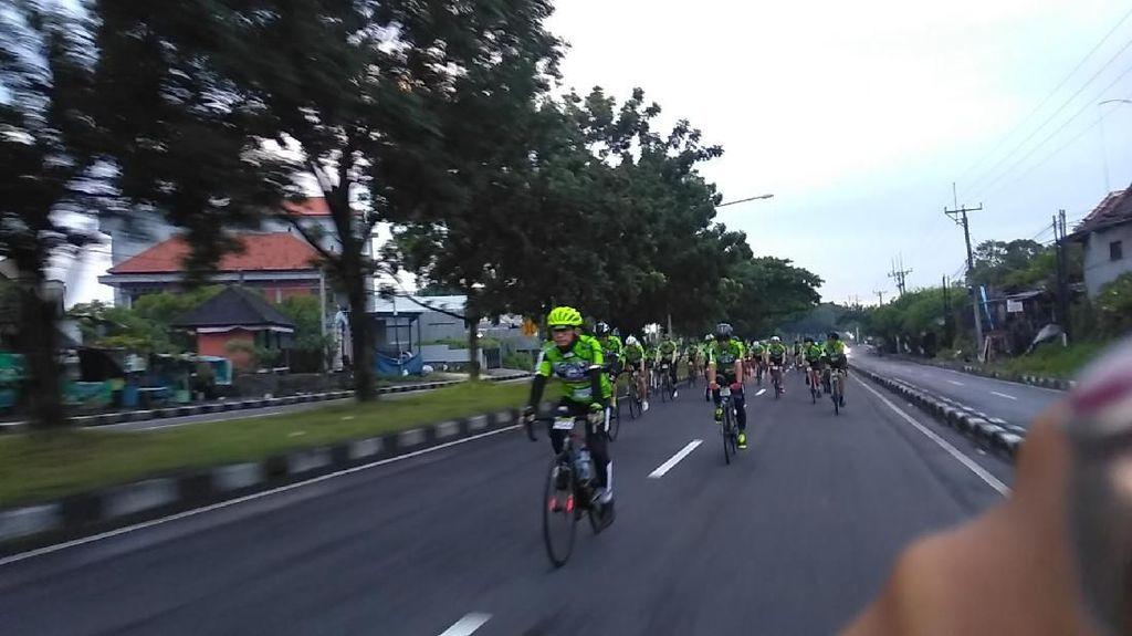 Di Bawah Naungan Cuaca Berawan, GFNY Bali 2018 Dimulai