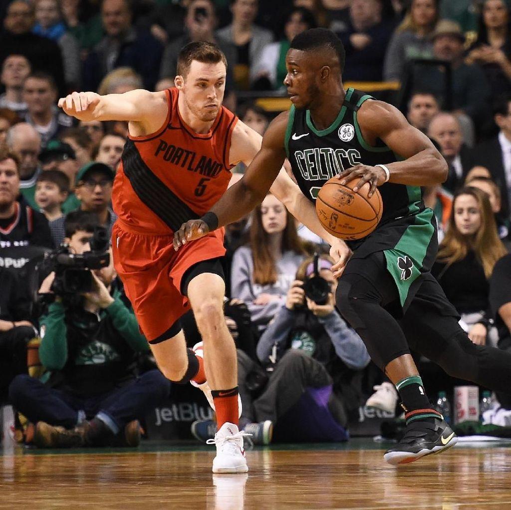 Sempat Tertinggal 16 Poin, Celtics Menang Dramatis Lawan Blazers