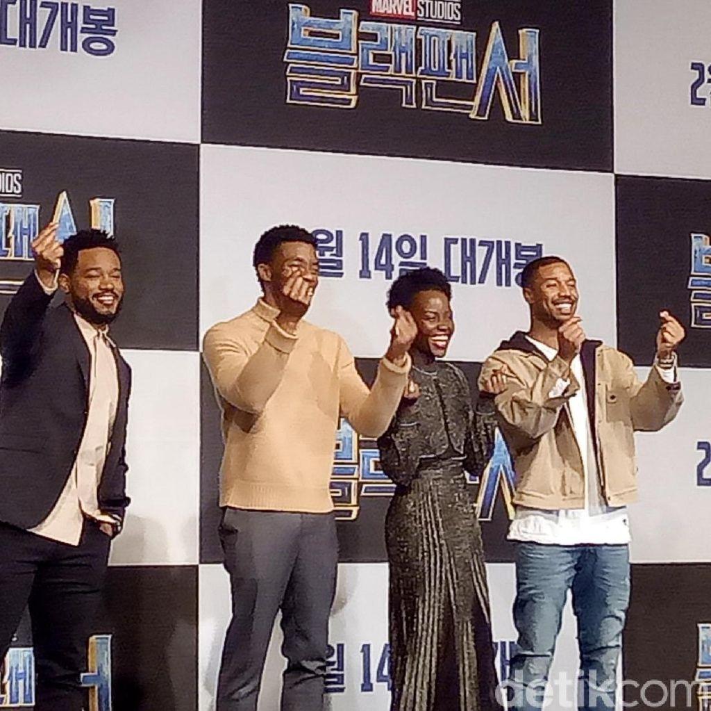 Yuk, Lihat Keseruan Para Pemain Black Panther Nyanyi