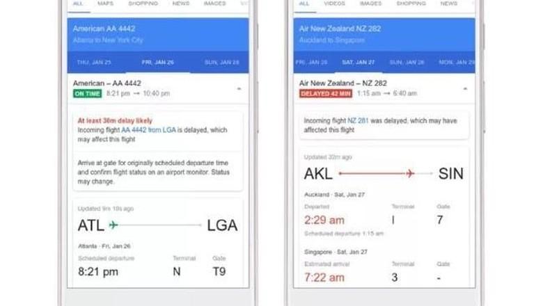 Foto: Ilustrasi Google Flights (Google)
