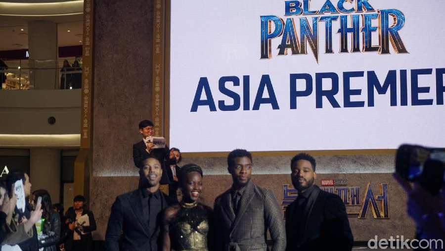 Keseruan Premier Black Panther di Seoul