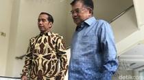 Makan Siang Bareng di Kantor JK, Jokowi: Kita Bicara Banyak Hal