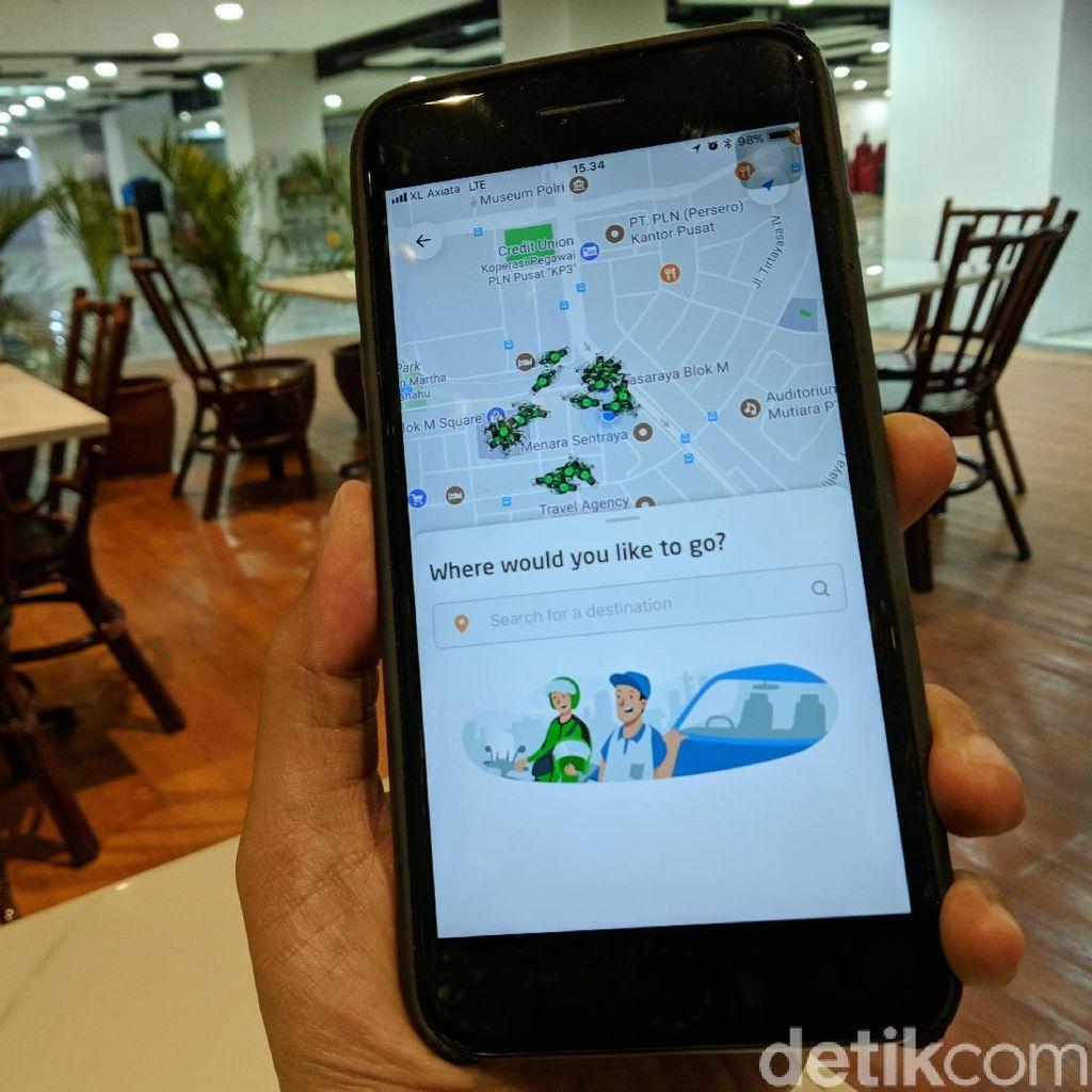 Tampilan Baru Aplikasi Go-Jek Makin Segar