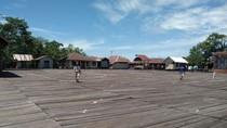 Foto: Agats, Ibu Kota Kabupaten Asmat yang Dibangun di Atas Rawa