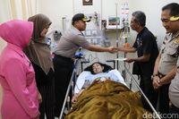 Mukhmainna selamat dari longsoran tembok underpass Jl Perimeter, kawasan Bandara Soekarno-Hatta