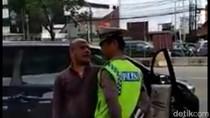 Tak Terima Ditegur, Pengendara Mobil Seruduk Polisi di Matraman