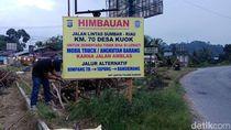 Jalan Lintas Riau-Sumbar Ambles, Arus Lalu Lintas Dialihkan