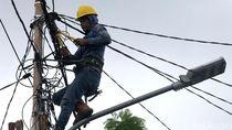 Usai Banjir, PLN Lakukan Perbaikan Jaring   an Kabel Listrik