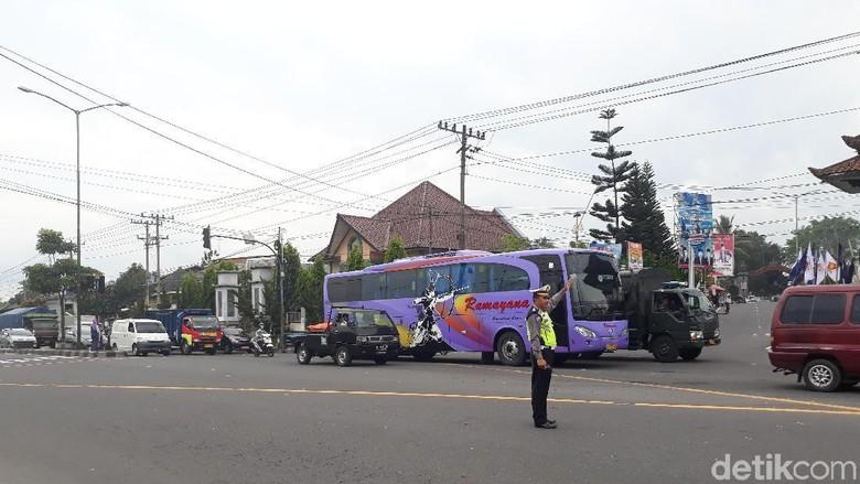 Demo Sopir Truk Bubar, Arus Lalin Magelang-Yogya Kembali Normal