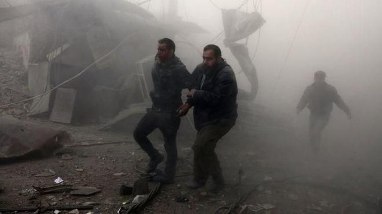 Serangan Rezim Suriah Tewaskan 75 Warga Sipil di Ghouta Timur