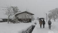 Suasana yang penuh salju di Shirakawa (Fitraya/detikTravel)