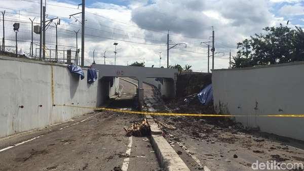 Garis Polisi Masih Terpasang, Underpass Soetta Belum Bisa Dilewati