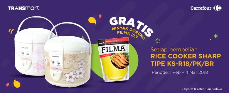 Gratis Minyak Goreng di Promo Akhir Pekan Transmart dan Carrefour