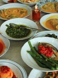 Ini sajian menu yang ada di Kedai Nasi Pauh Piaman.